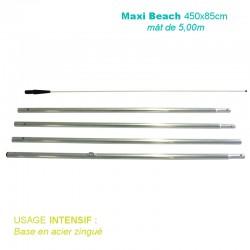 Mât Maxi Beach XL 5,00m pour voile 450x85cm pour usage intensif
