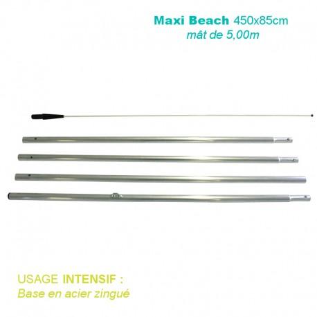 Mât Maxi Beach XL 5,00m pour usage intensif