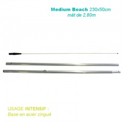 Mât Medium Beach 2,80m pour voile 230x50cm - usage intensif