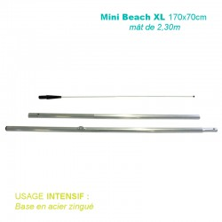 Mât Mini Beach XL 2,30m pour usage intensif