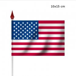 Drapeau à agiter USA par sachet de 10