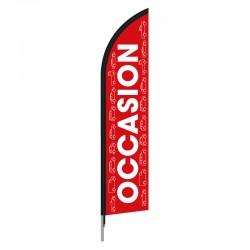Voile beach flag OCCASION VOITURE  - en forme de plume