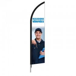 Voile beach flag OCCASIONS VERIFIEES  - en forme de plume