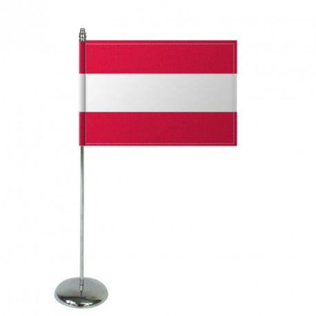 Drapeau de table Europrestige AUTRICHE en satin