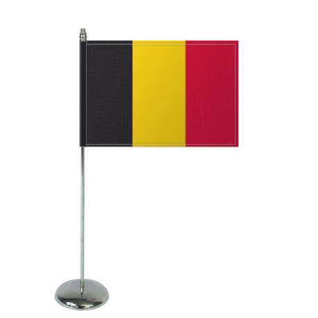 Drapeau de table Europrestige BELGIQUE en satin