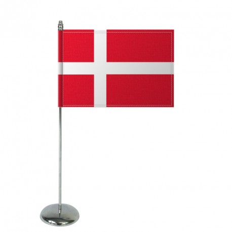 Drapeau de table Europrestige DANEMARK en satin
