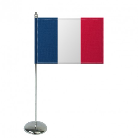 Drapeau de table Europrestige FRANCE en satin