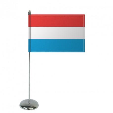 Drapeau de table Europrestige LUXEMBOURG en satin