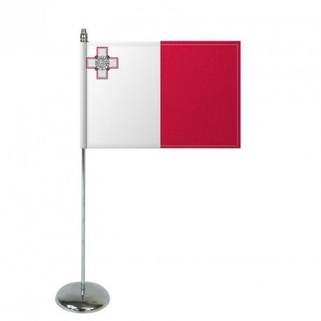 Drapeau de table Europrestige MALTE en satin