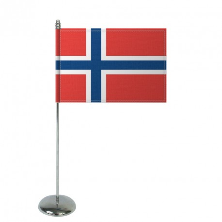 Drapeau de table Europrestige NORVEGE en satin