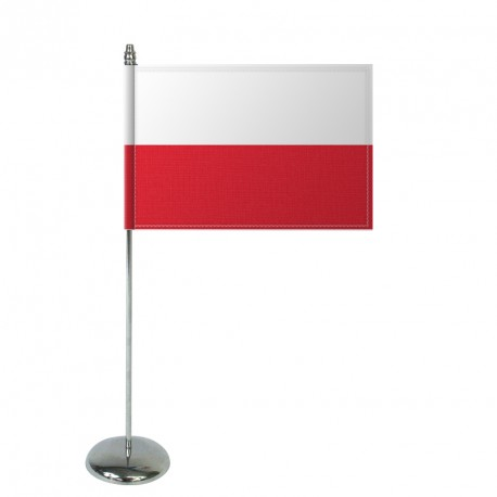 Drapeau de table Europrestige POLOGNE en satin