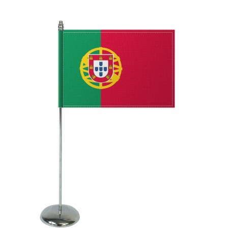 Drapeau de table Europrestige PORTUGAL en satin