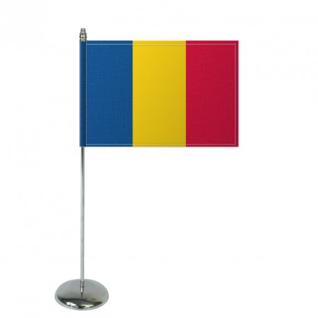 Drapeau de table Europrestige ROUMANIE en satin