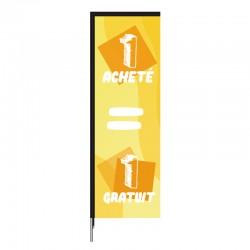 Voile beach flag 1 ACHETE 1 GRATUIT  - en forme de rectangle