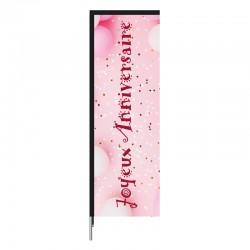 Voile Atlas ANNIVERSAIRE de couleur rose