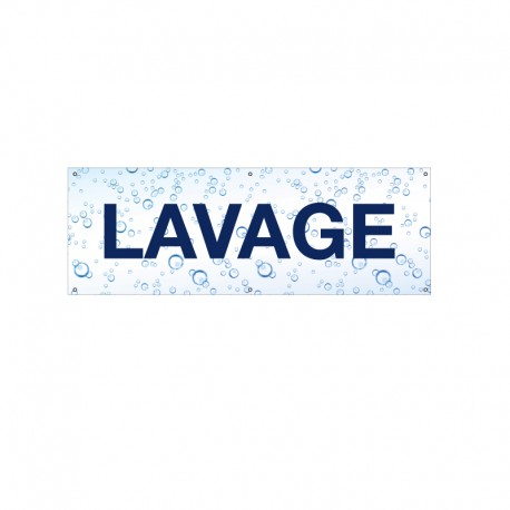 Bâche PVC LAVAGE
