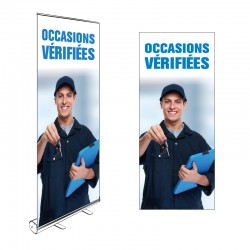 Kakémono Roll-up OCCASIONS VERIFIEES 200x85cm