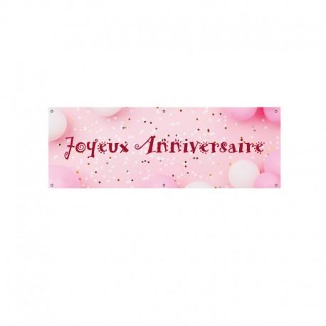 Bache Pvc Joyeux Anniversaire De Couleur Rose Faber France