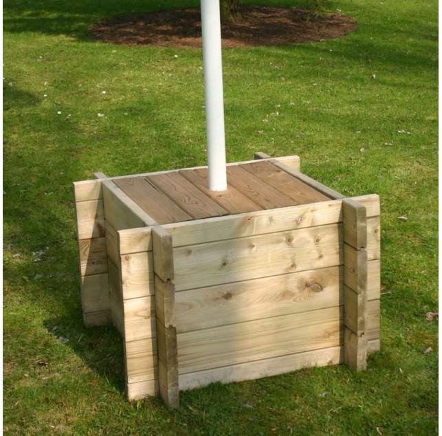 Caisse à mât en bois naturel traité pour mâts EVEREST ou JUMBO