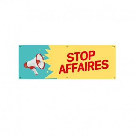 Bâche PVC STOP AFFAIRES