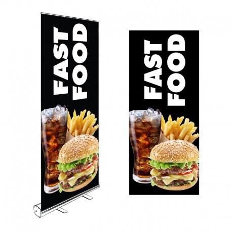 Kakémono Roll-up 200x85cm FAST FOOD