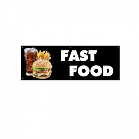 Bâche PVC FAST FOOD