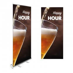 Kakémono Roll-up HAPPY HOUR 200x85cm