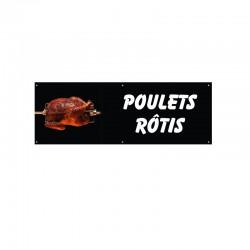 Bâche PVC POULETS ROTIS
