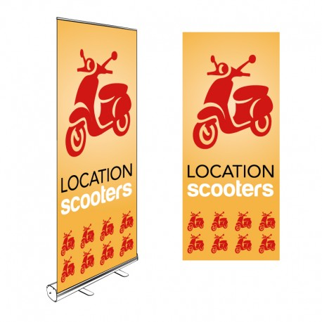 Kakémono Roll-up LOCATION SCOOTERS 200x85cm