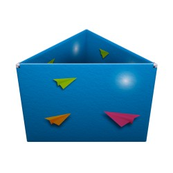 Enseigne suspendue de forme triangulaire