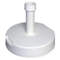 Pied parasol en béton gainé de plastique blanc