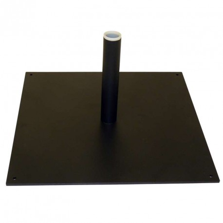 Platine carrée 40x40cm pour mât beach flag Ø28mm