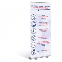 Banner Roll gestes barrières - COVID-19