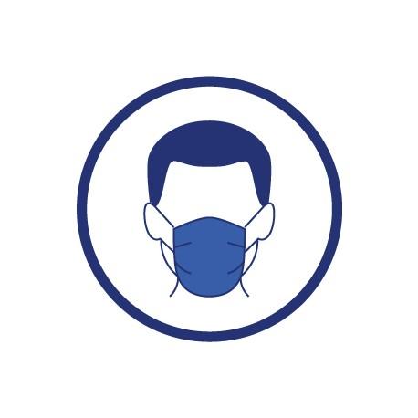 Adhésif avec logo PORT DU MASQUE OBLIGATOIRE