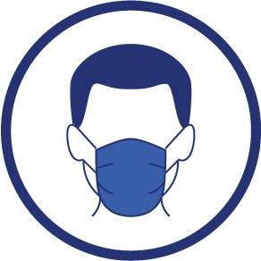 Adhésif avec logo PORT DU MASQUE OBLIGATOIRE - Faber France