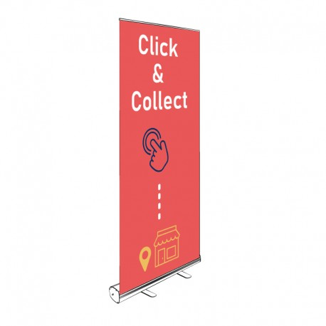 Kakémono Roll-up CLICK & COLLECT 200x85cm