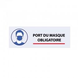 Bâche PVC PORT DU MASQUE OBLIGATOIRE