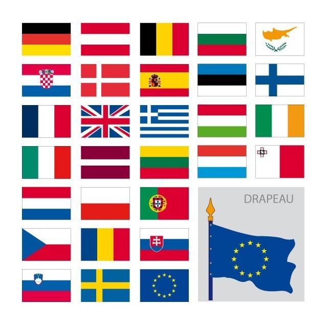 Kit des drapeaux de l'Europe