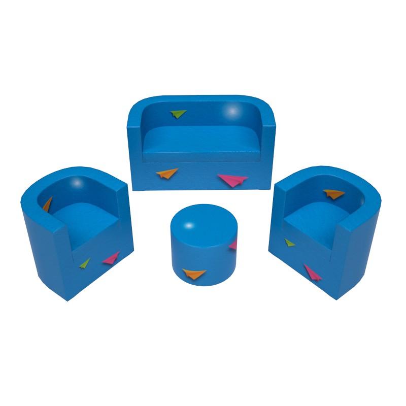 Kit détente : 1 canapé, 2 fauteuils et 1 table personnalisables