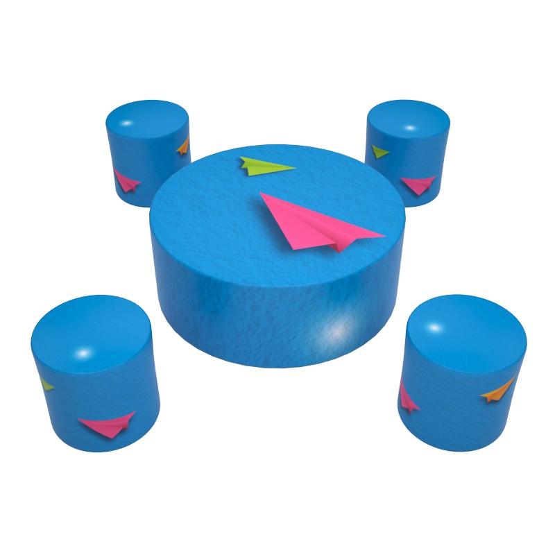 Kit rond composé de 5 meubles personnalisables