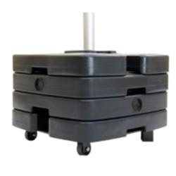 Platine Robusto pour mât mobile télescopique Ø45mm