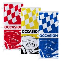 Voile drapeau pour d coration publicitaire de parking for Plv garage automobile
