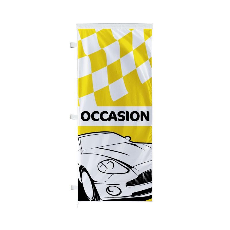 Drapeau pavillon vertical occasion avec damier s1 pour for Plv garage automobile