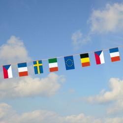 Guirlande Union Européenne avec fanions en polyéthylène PMM2