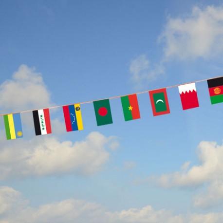 Guirlande multinationale avec fanions des pays du monde PMM4