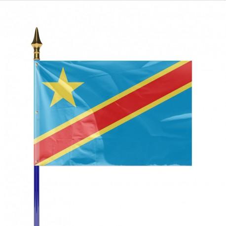 Drapeau pays REPUBLIQUE DEMOCRATIQUE DU CONGO (KINSHASA)