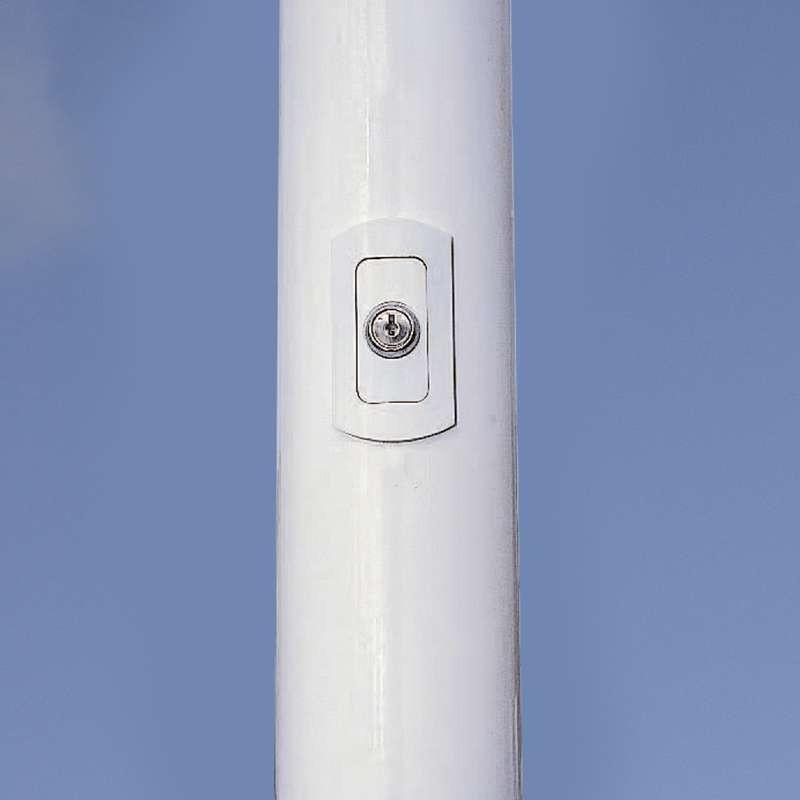 Mât aluminium antivol laqué blanc