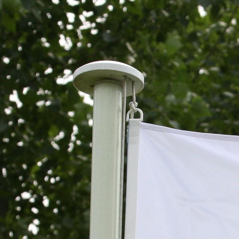 Mât aluminium standard laqué blanc
