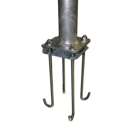 Platine basculante pour mât aluminium Ø100