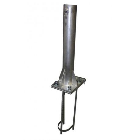 Platine basculante pour mât aluminium Ø80